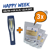 HAPPY WEEK LED-Handlampe und 3 x Oil-Catcher go
