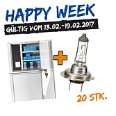 Happy Week Lampenschrank mit 24V Lampen