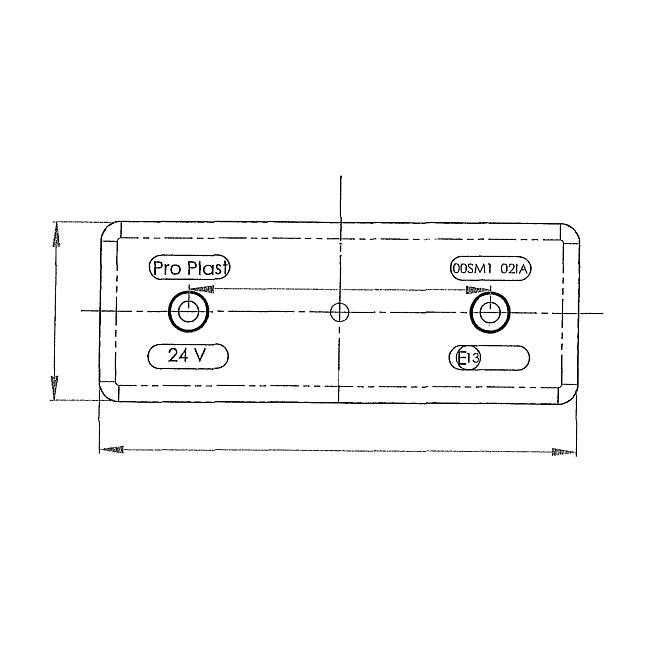 LED-Seitenmarkierungsleuchte 24V mit Kabel