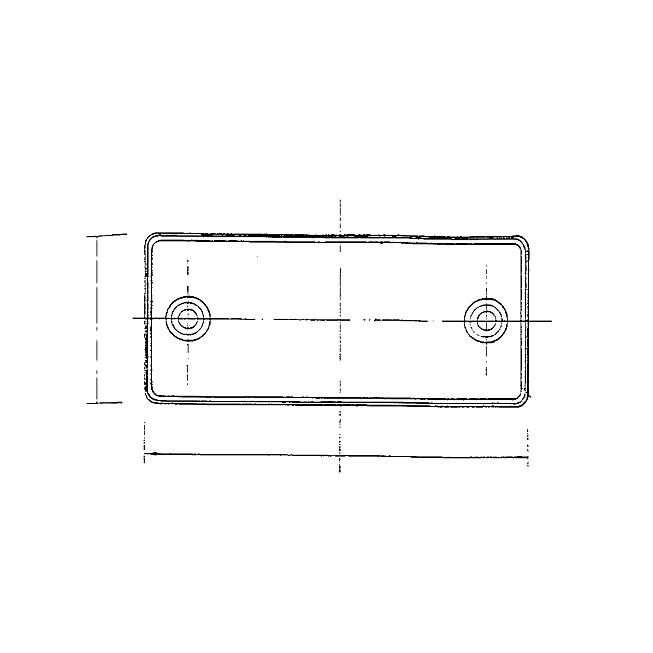 Rückstrahler 90 mm x 40 mm