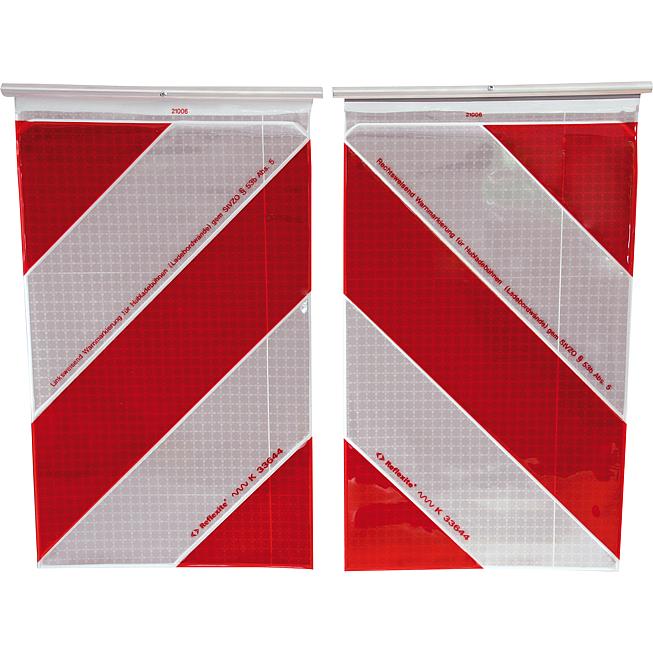 Warnflaggen für Hubladebühnen