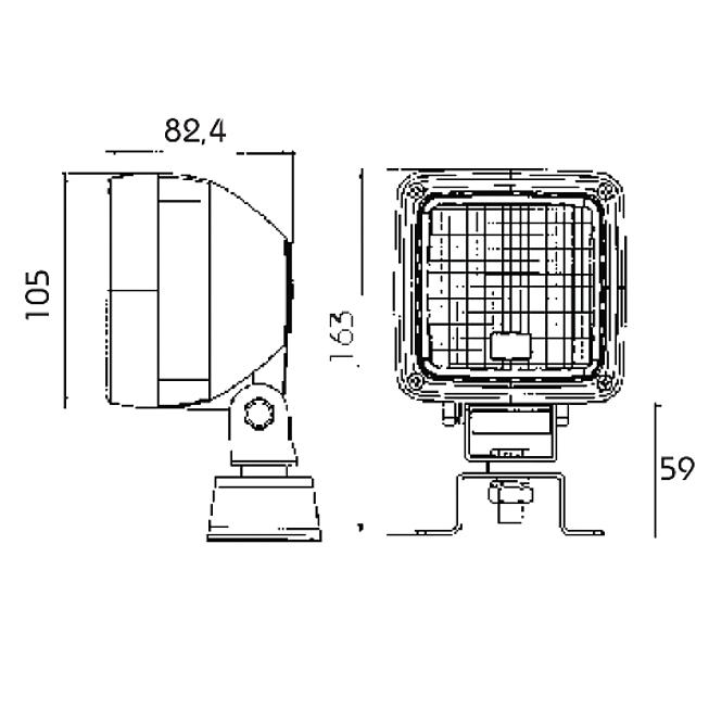 H3-Arbeitsscheinwerfer