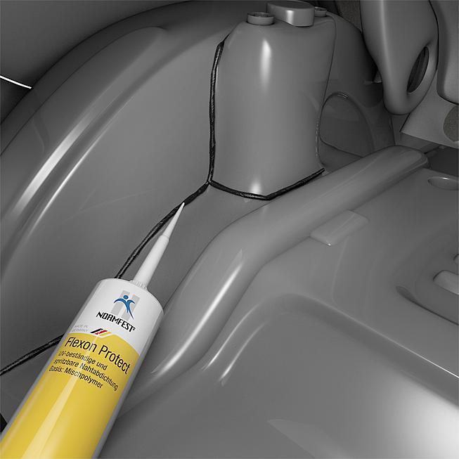 UV-beständige und spritzbare Nahtabdichtung Flexon Protect