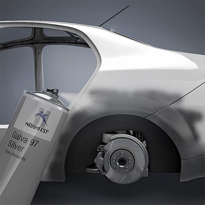 Zink-Aluminium-Grundierung Galva Silver 97
