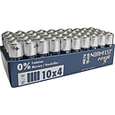 Batterien zu 40 Stück im Tray