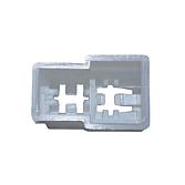 Mehrfachsteckgehäuse für Flachsteckzungen