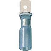 Flachsteckzungen mit Schrumpfschlauch-Isolierung