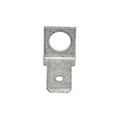 Flachsteckzungen mit Loch Messing verzinnt, M5, 6,3mm