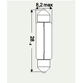 12V 3W Soffittenlampe