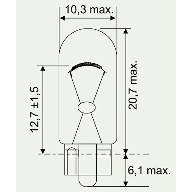 12V 5W Glassockellampen