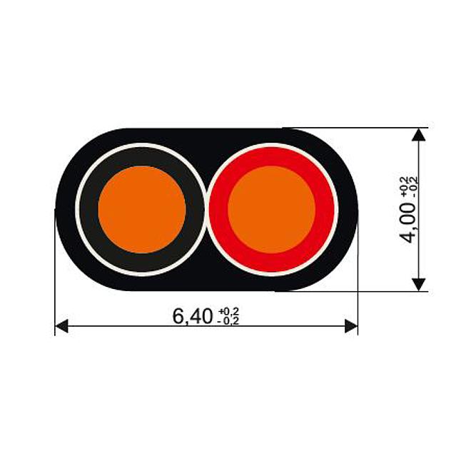 Fahrzeugleitungen doppelt isoliert, flach, FLYR