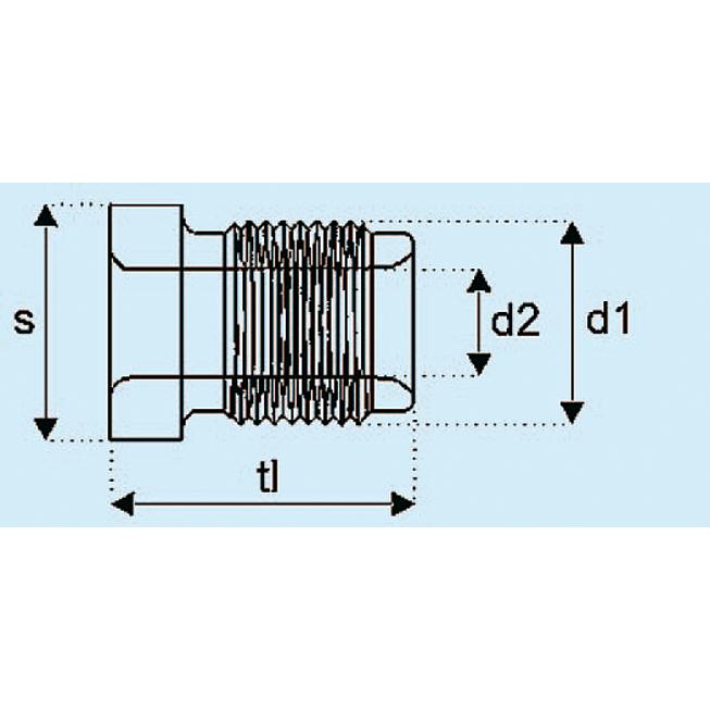 Bremsleitungsnippel mit Außengewinde
