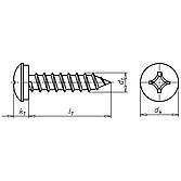 Nummernschildschrauben - Kappenschrauben selbstschneidend