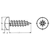 Linsenkopf-Blechschrauben DIN 7981 A2