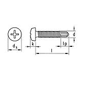 Nummernschildschraube mit Bohrspitze DIN7981
