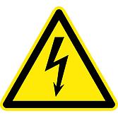 """Warnschild """"Warnung vor elektrischer Spannung"""""""