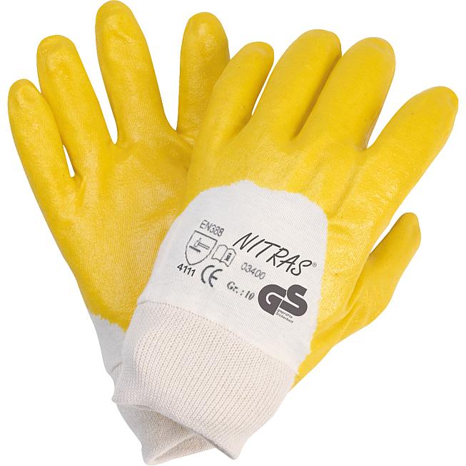 Nitrilschutzhandschuhe gelb