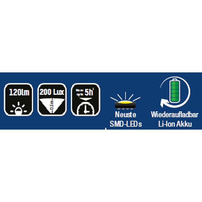 LED AKKU Werkstattleuchte PL120