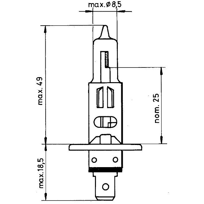 12V H1 55W Hauptscheinwerferlampe