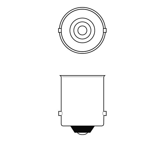 24V 10W Schlusslichtlampen erschütterungsfest