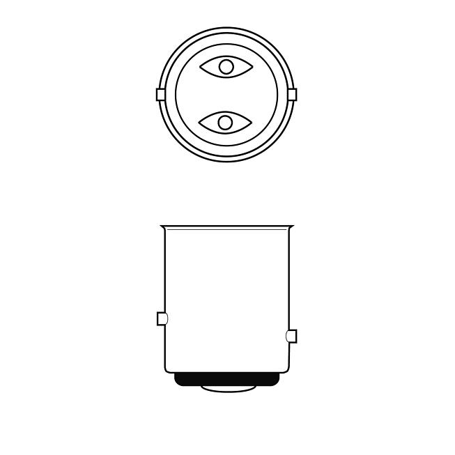 24V 21/5W Brems-  und Schlusslichtlampe