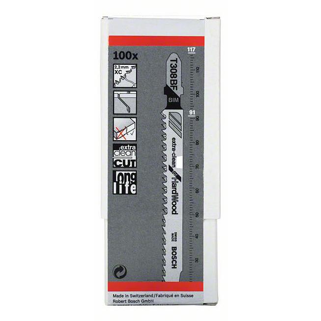 BOSCH Stichsägeblätter T308BF Inhalt 5 Stück für Hartholz
