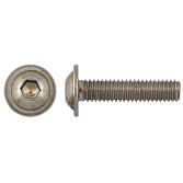 Linsenschraube mit Flansch DIN EN ISO 7380-2 A2-70