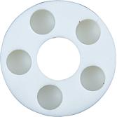 Distanzröllchen Weiß Polyethylen