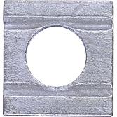 Vierkantscheibe konisch mit 2 Rillen DIN 434 vz