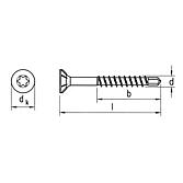 SebS Bohrschraube Senkfräskopf A2, TX 20
