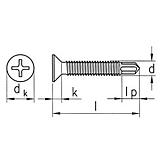 SebS Bohrschraube Senkkopf Fensterbau ähnl. DIN 7504-P-H vz, H 2