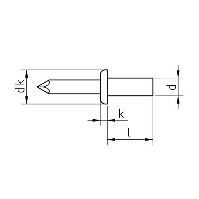 Becherblindniet Flachrundkopf A2/A2